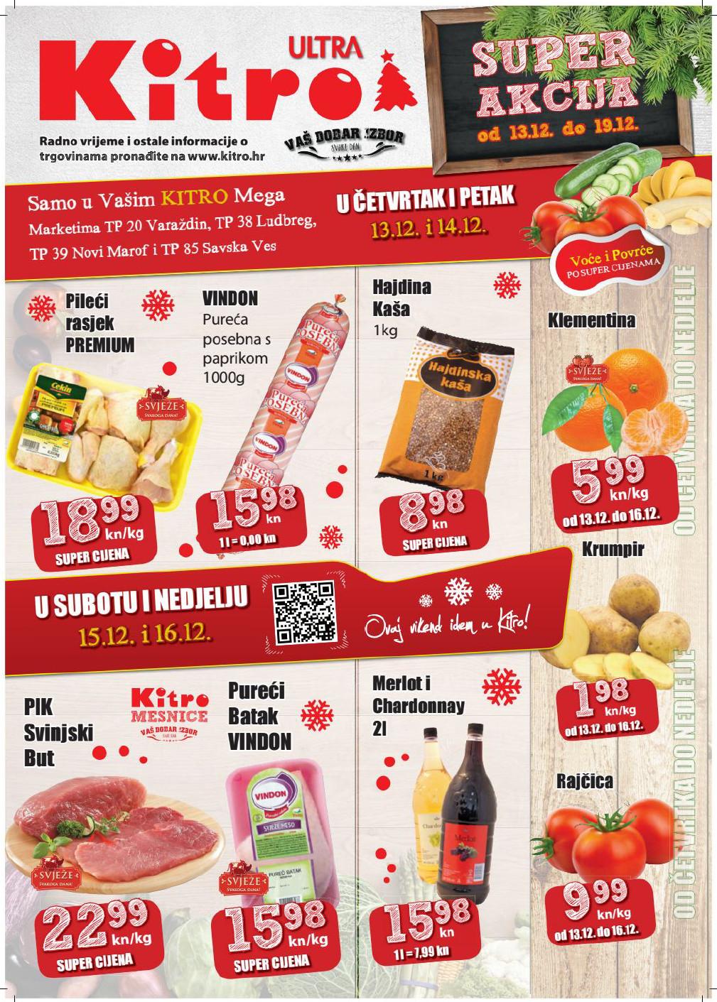 Nova vikend akcija od 13.- 16.12.2018. u Kitro marketima i supermarketima!
