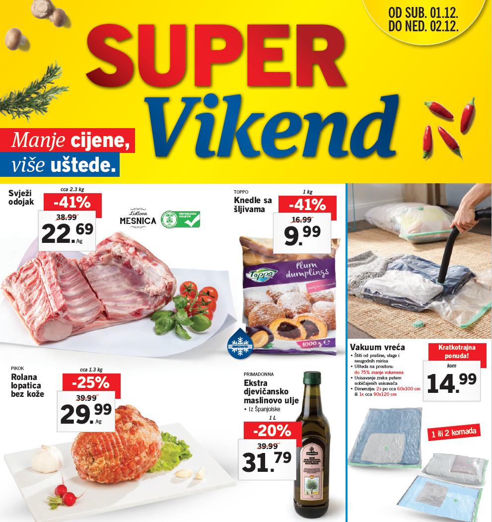 Novi super popusti na odabrane proizvode u Lidlovom Super vikendu od 01.-  02.12.2018. godine.