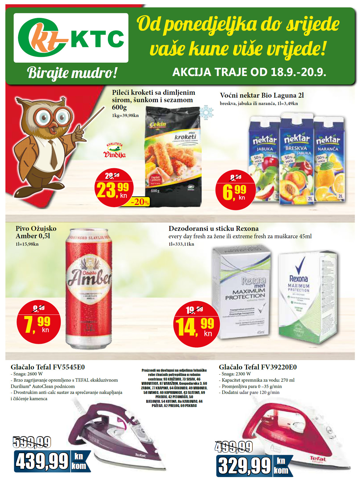 Od ponedeljka do srijede vaše kune više vrijede!  Top ponuda za početak tjedna od 18.- 20.09.2017. u KTC supermarketima.