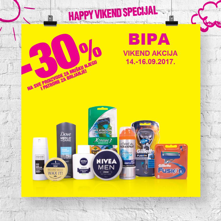 Nova Happy vikend akcija od 14.- 16.09.2017. u BIPA drogerijama!