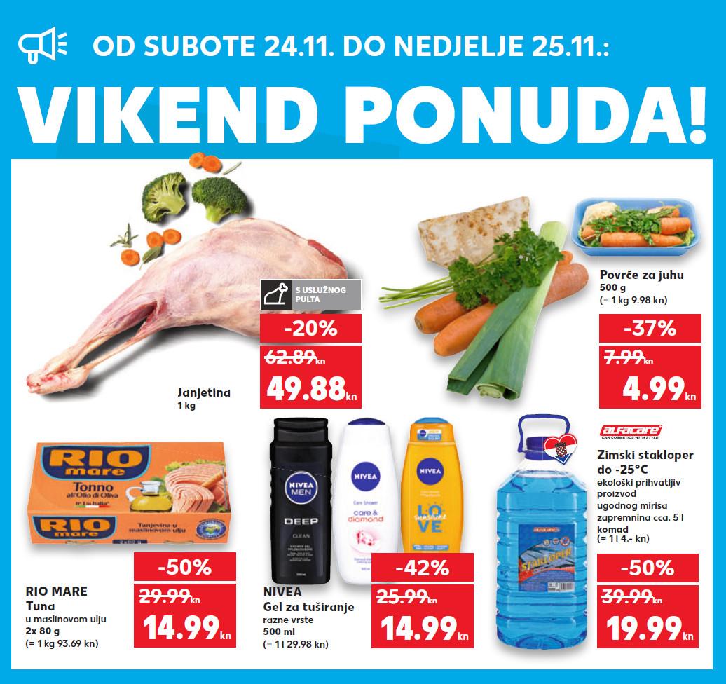 Top ponuda samo u subotu i nedjelju. Nova vikend akcija od 24.- 25.11.2018. u Kaufland supermarketima.