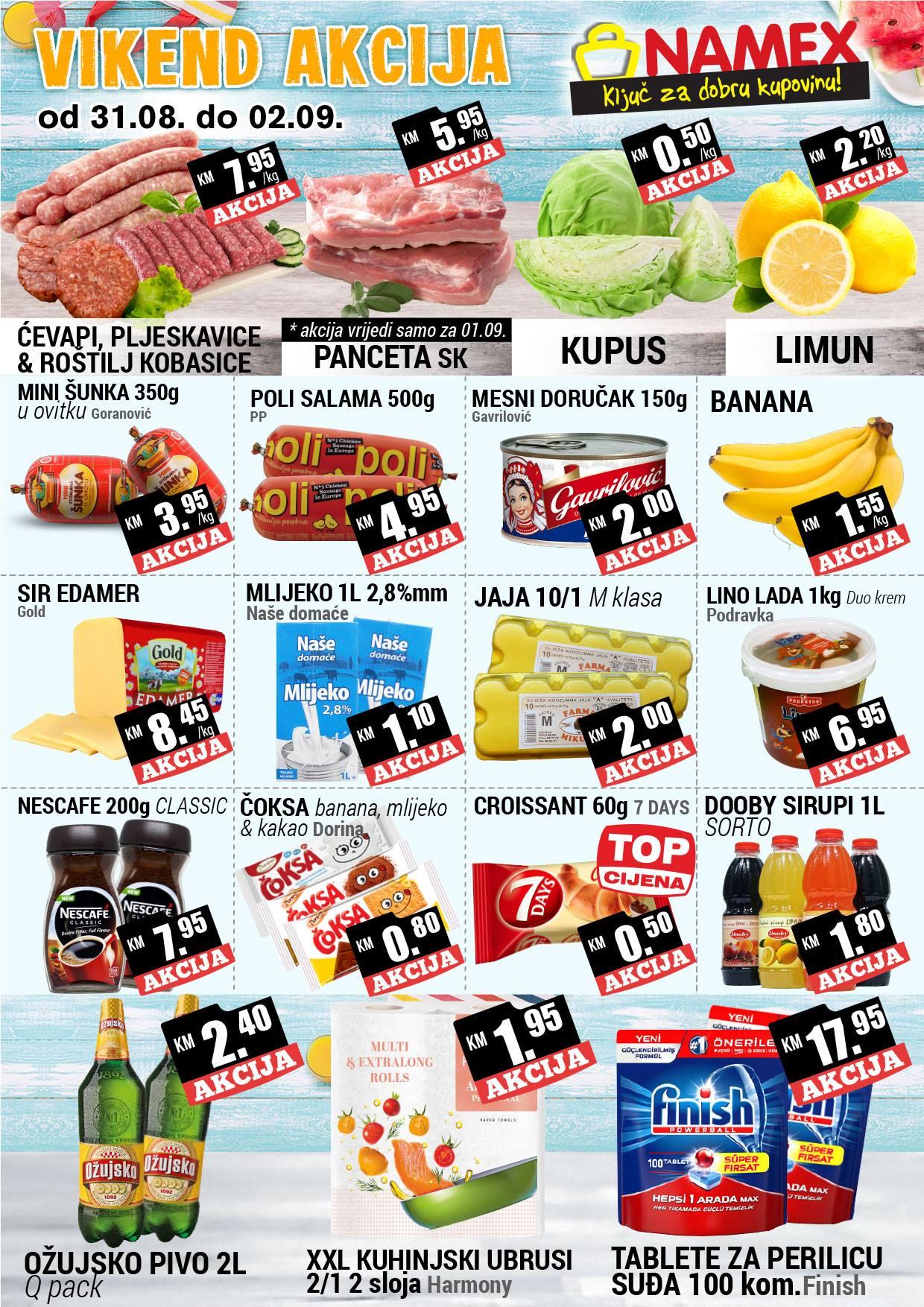 Ključ za dobru kupovinu! Nova vikend akcija od 31.08.-02.09.2018. u Namex supermarketima!