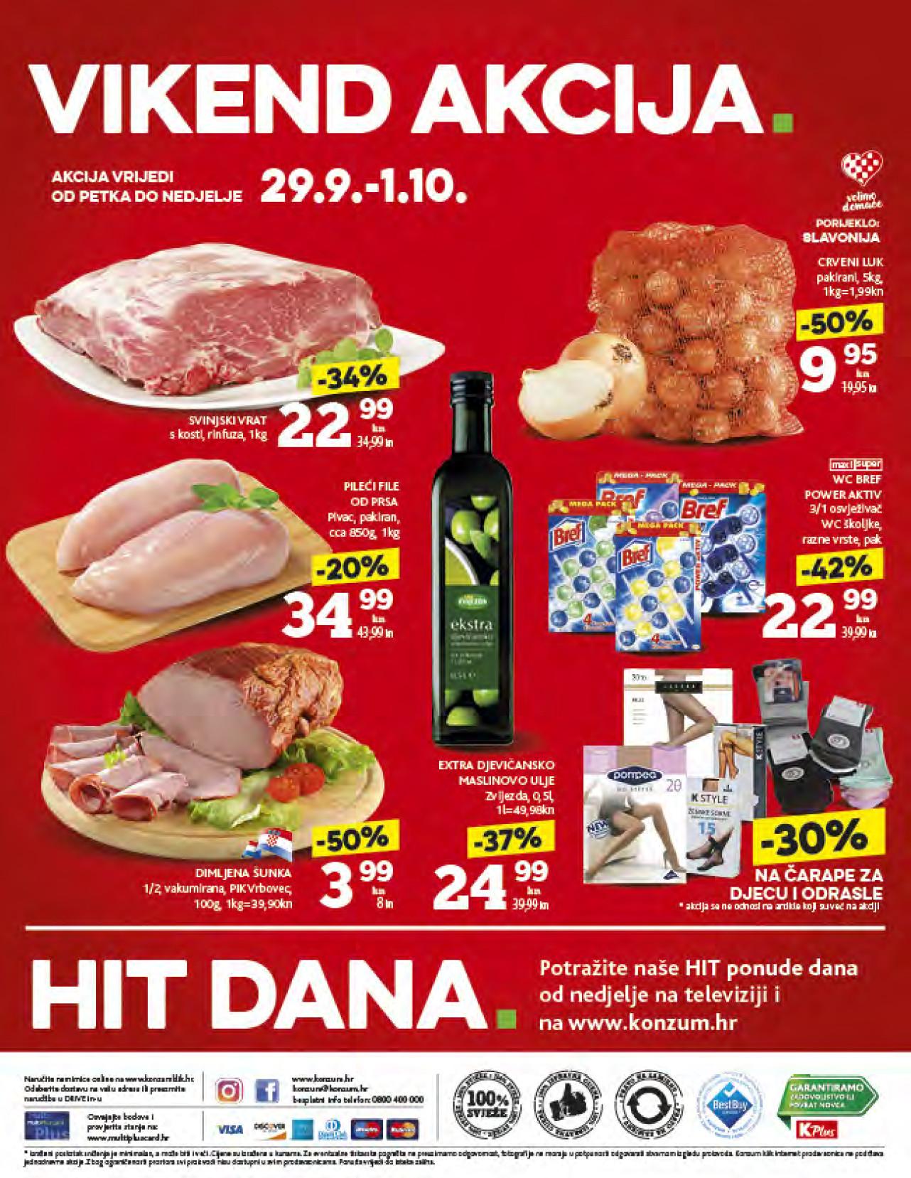 Isplati se! I ovog vikenda od 29.09.- 01.10.2017. iskoristite nove popuste i kupujte povoljnije u Konzumovim prodajnim centrima.