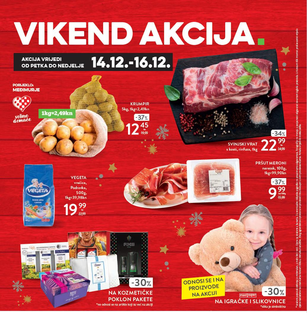 I ovog vikenda od 14.- 16.12.2018. iskoristite nove popuste i kupujte povoljnije u Konzumovim prodajnim centrima.