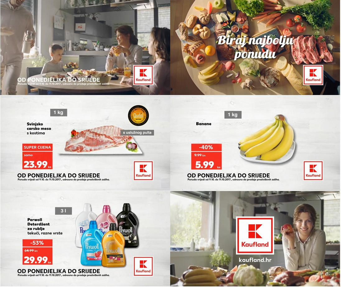 Top ponuda za početak tjedna od 09.- 11.10.2017. u Kaufland supermarketima.