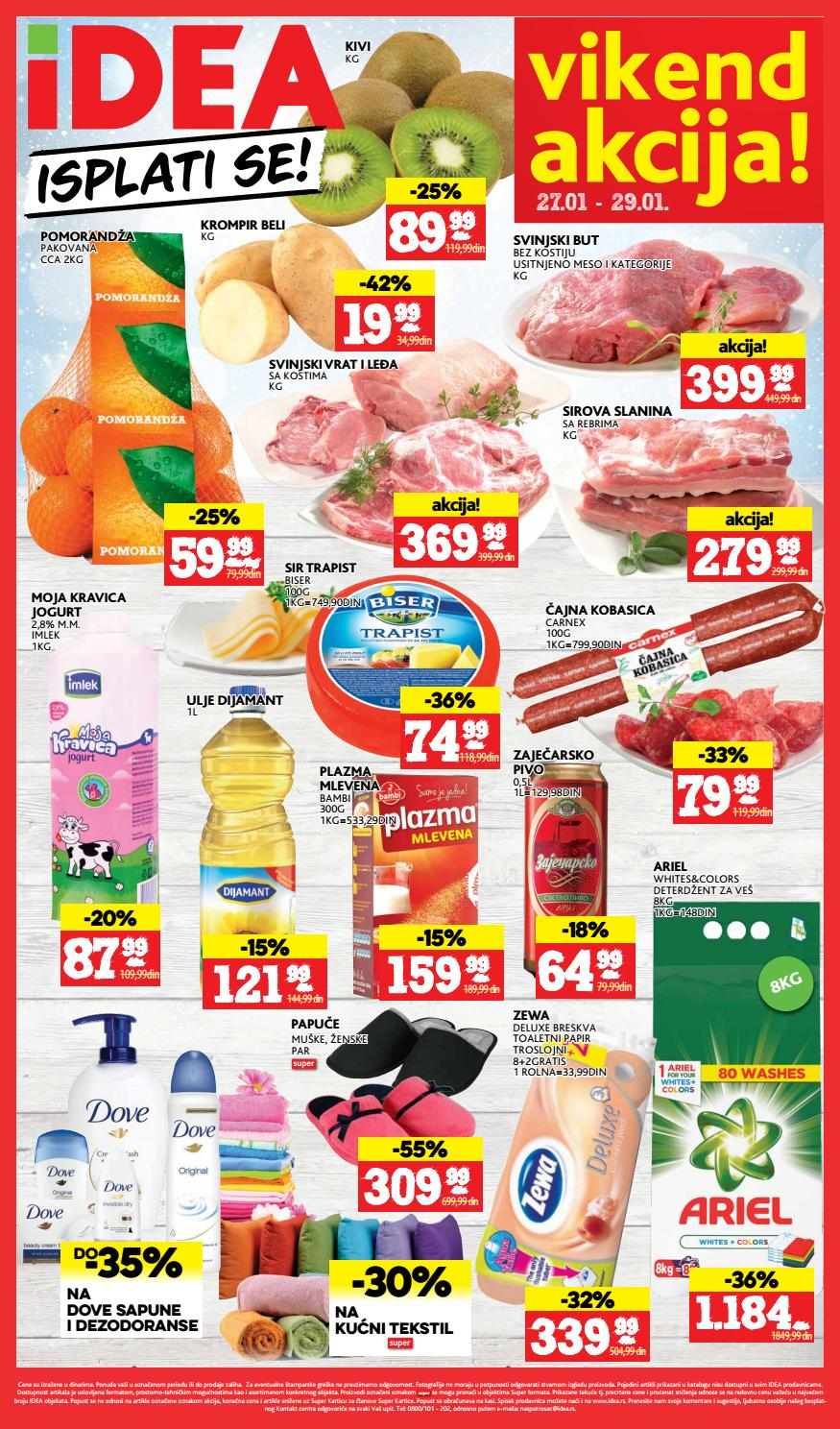 Nova vikend akcija od 27.- 29.01.2017. u Idea supermarketima.