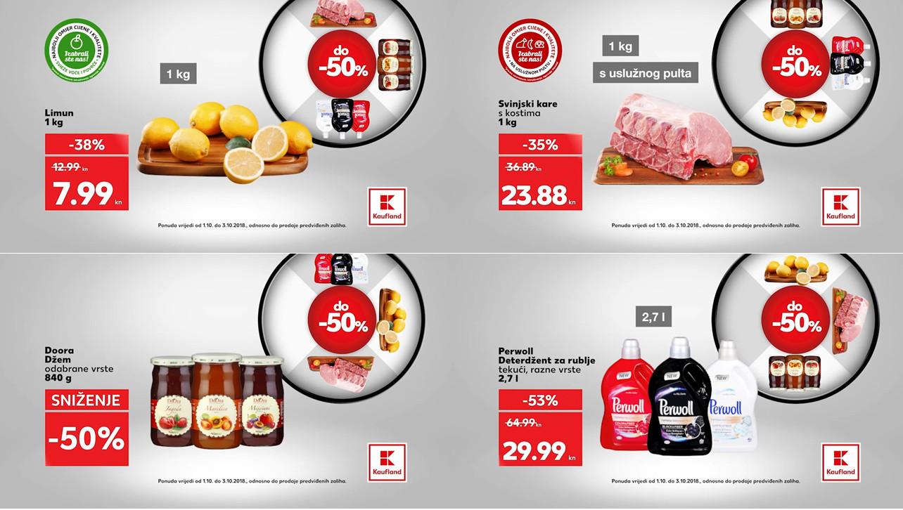 Kauflandovo kolo sreće vam donosi nova sniženja za početak tjedna od 01.- 03.10.2018. u Kaufland supermarketima.