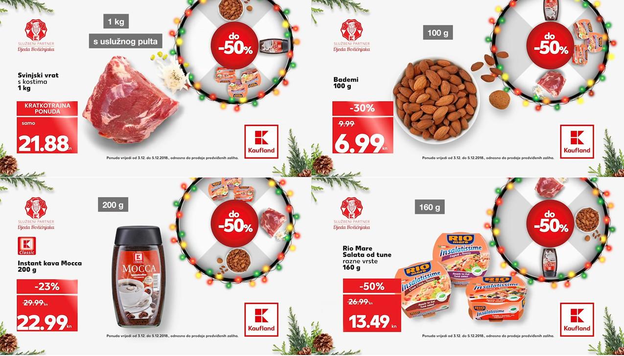 Kauflandovo kolo sreće vam donosi nova sniženja za početak tjedna od 03.- 05.12.2018. u Kaufland supermarketima.