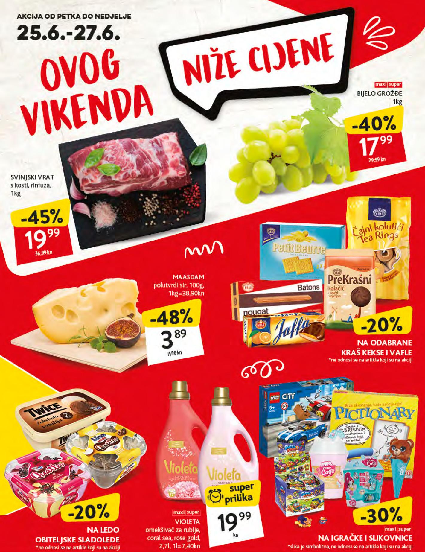 Nema akcije do Konzum akcije! Nova vikend akcija u Konzum supermarketima od 07.- 09.07.2017.