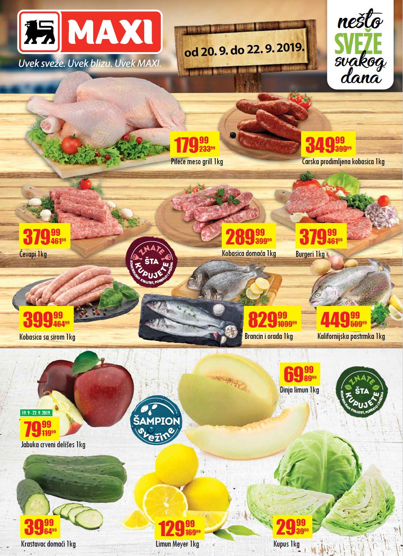 I ovog vikenda iskoristite nova sniženja od 27.- 29.07.2018. u MAXI supermarketima.