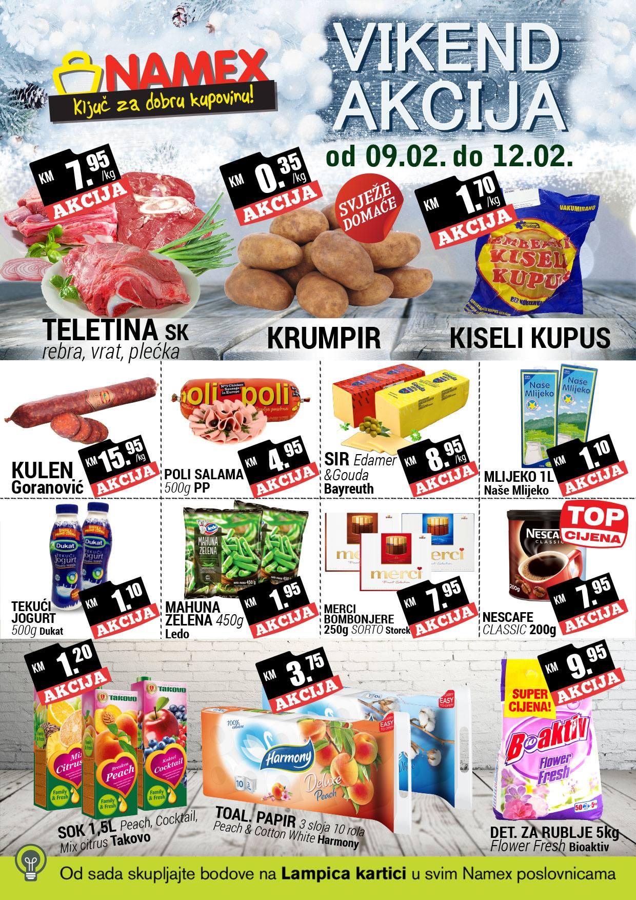 Ključ za dobru kupovinu! Nova vikend akcija od 09.- 12.02.2017. u Namex supermarketima!