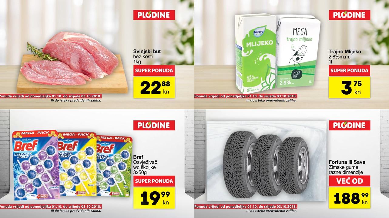 Top ponude za početak tjedna! Od ponedjeljka do utorka, 01.- 03.10.2018.  iskoristite nove popuste i kupujte povoljnije u Plodine supermarketima.