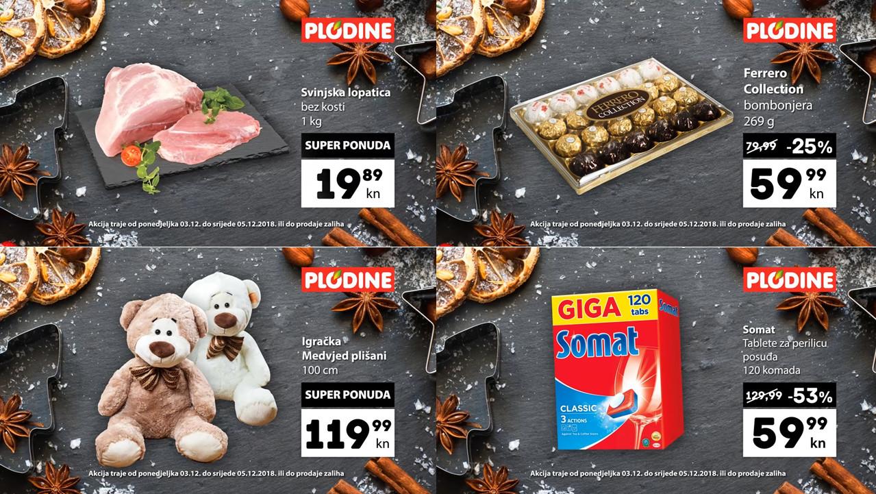 Od ponedjeljka do utorka, 03.- 05.12.2018.  iskoristite nove popuste i kupujte povoljnije u Plodine supermarketima.